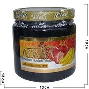 "Табак для кальяна Adalya 1 кг ""Strawberry Banana"" (клубника банан Адалия) Турция"