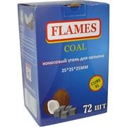 Кокосовый уголь для кальяна Flames 72 шт 25 мм