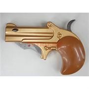 Зажигалка газовая с выкидным ножом в виде револьвера