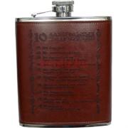 Фляга 18 унций «10 алкогольных заповедей»