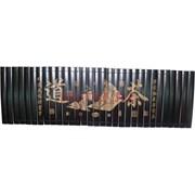 Панно бамбуковое с иероглифами