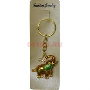 Брелок со стразами «Слон с зеленым ухом»