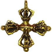 Ваджра под бронзу подвеска в виде креста 2,5 см