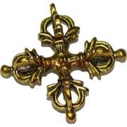 Ваджра под бронзу подвеска в виде креста 3,2 см