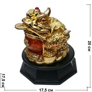 Жаба рогатая под золото на крутящейся подставке
