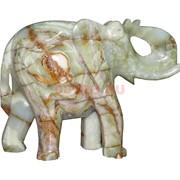 Слон 30 см с загнутым хоботом, оникс (12 дюймов)