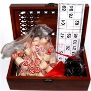 Лото деревянное в резной подарочной коробке