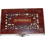 Домино в подарочной коробке (резной)