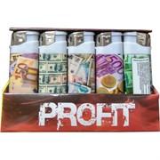 Зажигалка газовая Profit «доллары и евро» 50 шт/уп