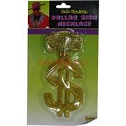 Прикол подвеска на шею Доллар золотой
