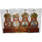 Магнит деревянный «Церковь, икона, молитва»
