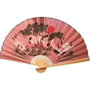 Веер 90 см розовый (рисунки в ассортименте)