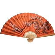 Веер 90 см оранжевый (рисунки в ассортименте)