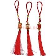 Подвеска «Буддийский барабан» малая с красными нитками