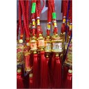 Подвеска «Буддийский барабан» большая с красными нитками