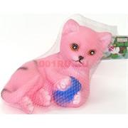 Котенок игрушка со звуком резиновая (911)