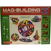 Конструктор магнитный Mag-Biulding 78 шт (12 шт/кор) Маг-Билдинг