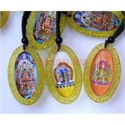 Подвеска буддийская овальная с разными рисунками