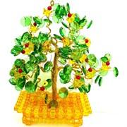 Дерево счастья плетеное (пластмасса, медная проволока)