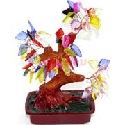 Дерево счастья с разноцветными листьями 18 см