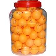 Мячик для пинг-понга желтый 40 мм 60 шт/банка