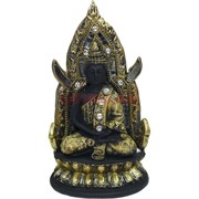 Будда в позе лотоса на троне (NS-418) высота 20 см