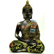 Будда в позе лотоса (NS-70) с тканью высота 15,5 см
