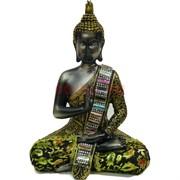 Будда в позе лотоса (NS-70) с тканью высота 15 см
