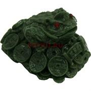 Жаба под нефрит на монетах с табличкой