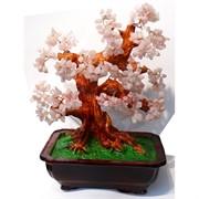 Дерево счастья «розовый кварц» высота 38 см