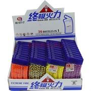 Пульки 6 мм цветные в рожке 500 шт 36 рожков
