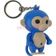 Брелок фонарик «обезьянка фингерлингс» со звуком 12 шт/уп