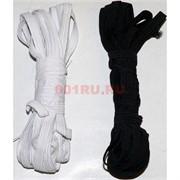 Резинка 7мм 8 метров, цена за 10 упаковок (черный и белый цвет)