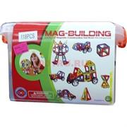 Конструктор магнитный Mag-Biulding 118 деталей (12 шт/кор)