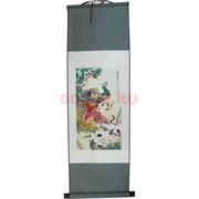 Панно шелковое 90x30 см «Павлин» (S-151)