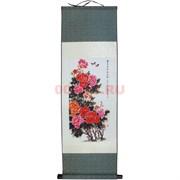 Панно шелковое 90x30 см «Китайская Роза» (S-146)