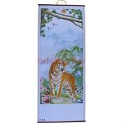 Панно из рисовой бумаги 77x30 см «Тигр» (W-608)
