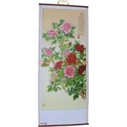Панно из рисовой бумаги 77x30 см «Китайские розы» (W-607)