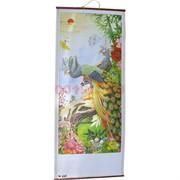 Панно из рисовой бумаги 77x30 см «Павлины» (W-605)