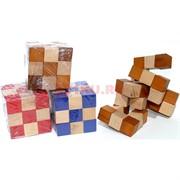 Кубик головоломка деревянная 5,8 см