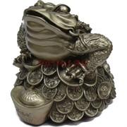 Жаба трехлапая на монетах со слитком 14 см