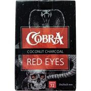 Кокосовый уголь Cobra Red Eyes 72 кубика 25 мм