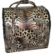 Сумка-шкатулка для косметики (маникюра) тигровая