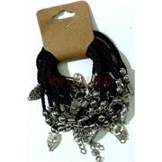 Браслет черные нитки «Сова» цена за 12 шт