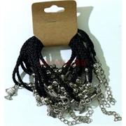 Браслет с черными нитками «Рыбка» цена за 12 шт