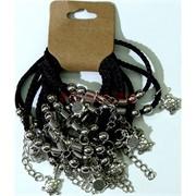 Браслет с черными нитками «Черепаха» цена за 12 шт