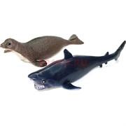 Игрушка мягкая стретч «акулы, котики» 24 шт/уп
