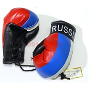 Перчатки боксерские в цветах российского флага (подвеска) цена за 6 пар (KL-748)