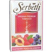 Табак для кальяна Шербетли 50 гр «Raspberry Peach Blueberry» (Serbetli малина персик черника)