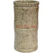 Ваза (стакан) из яшмы 15 см «бамбук»